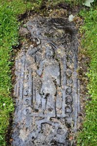 Grave Slab of a 14th-15th c. Clan Gregor Chief Dalmally Church, Glenorchy Photo: Undiscovered Scotland