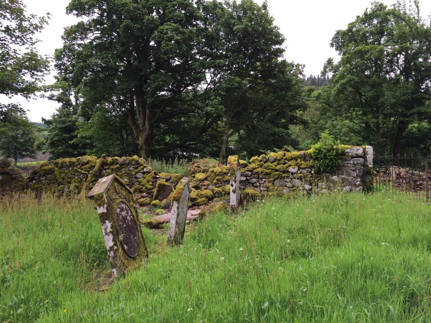 Tulliechettle Graveyard, at the foot of Glen Artney Photo: Susan Tichy, 2014